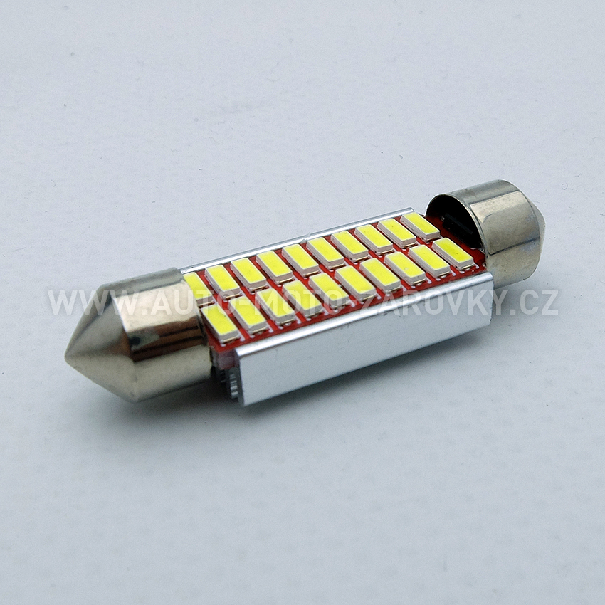 CAN-BUS sufitka bílá - Super Light, 20 SMD LED, 39mm, 1ks