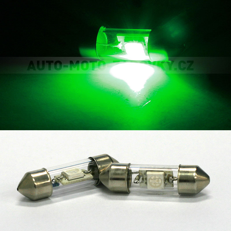 Sufitka zelená - Super Light, 1x SMD LED, 31mm