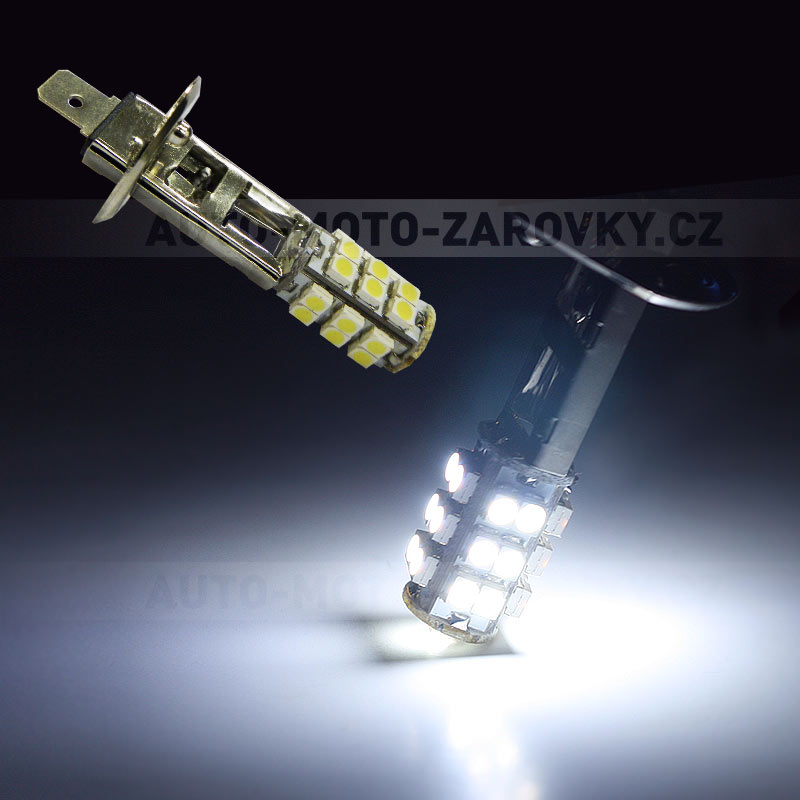LED žárovka 12V s paticí H1, 25 SMD LED, 1ks