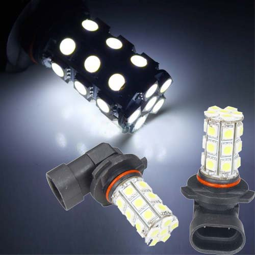 LED autožárovka 12V s paticí HB4 (9006), 27 SMD LED
